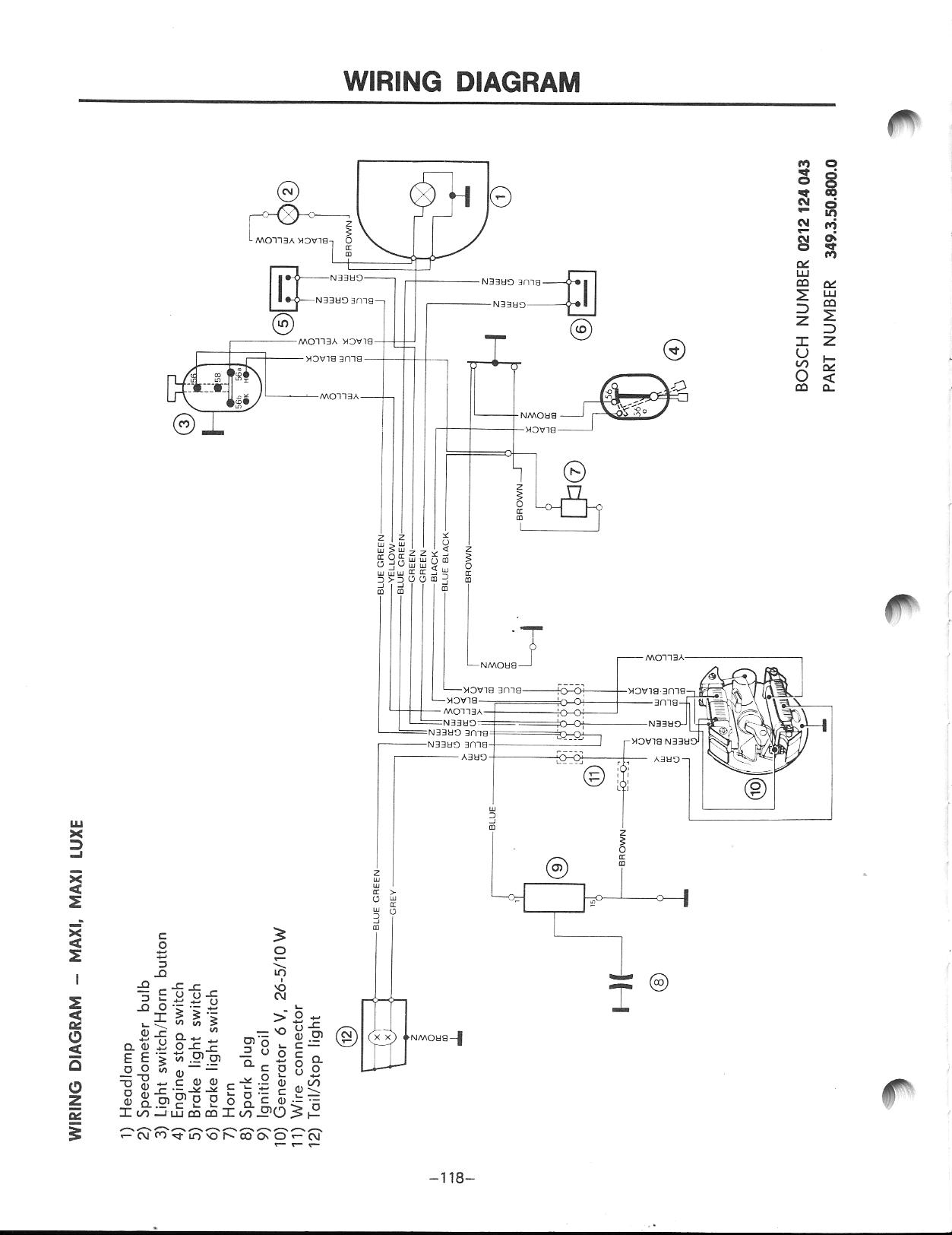 Brake Switch Wiring (puch) — Moped Army