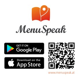 QR Code for the fully accessible MenuSpeak App
