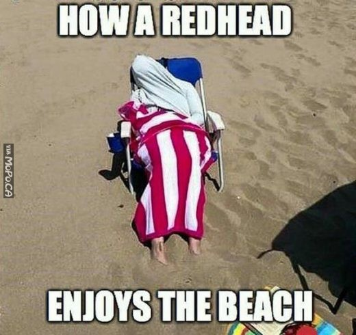 Red Head @ the Beach