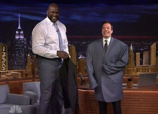 Shaq is one big dude