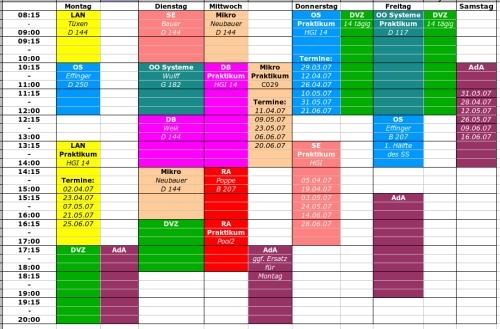 Stundenplan SS07