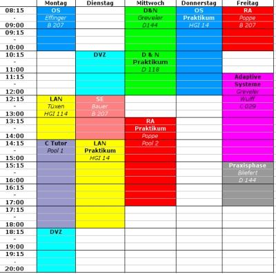 Stundenplan WS07/08