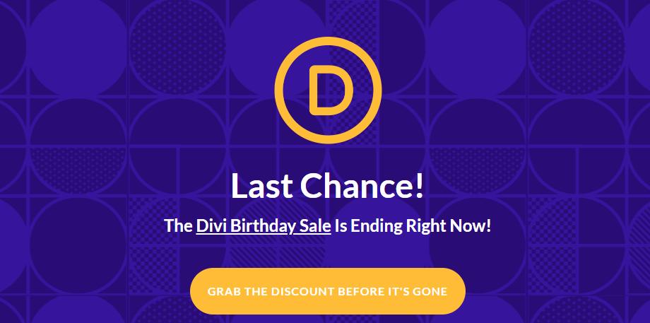 It's The Divi Birthday Sale! 20% OFF