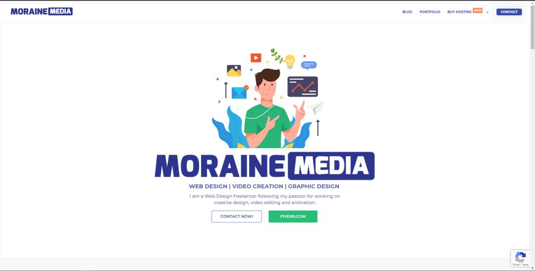 morainemedia.com website design with divi theme