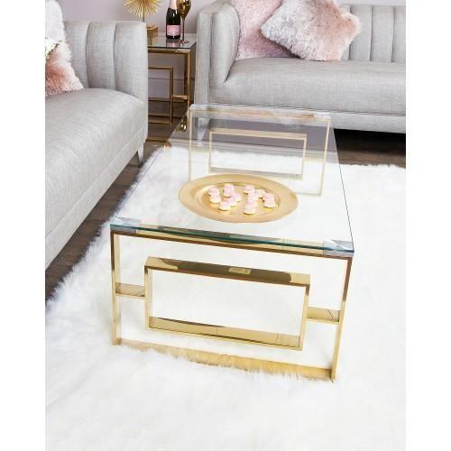aspen gold metal coffee table
