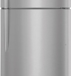 frigidaire gallery 18 cu ft top freezer refrigerator stainless steel fgtr1837tf [ 934 x 2000 Pixel ]