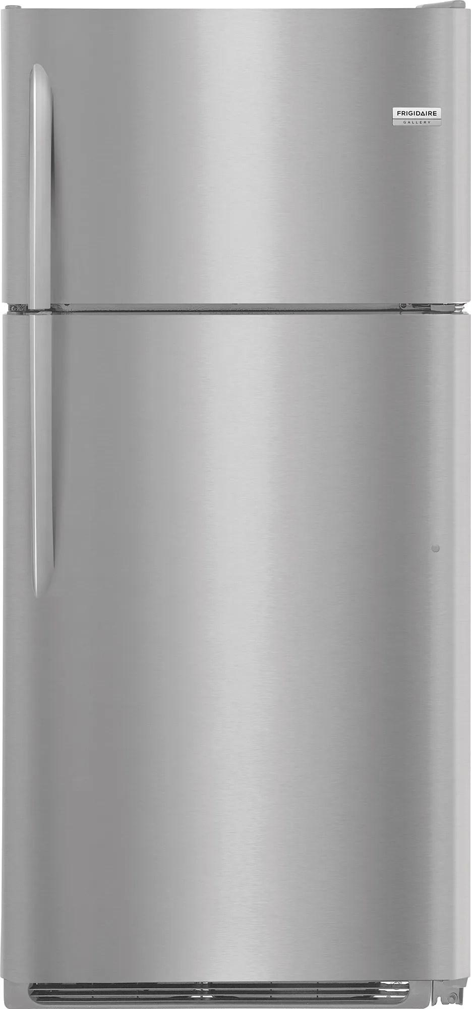 medium resolution of frigidaire gallery 18 cu ft top freezer refrigerator stainless steel fgtr1837tf