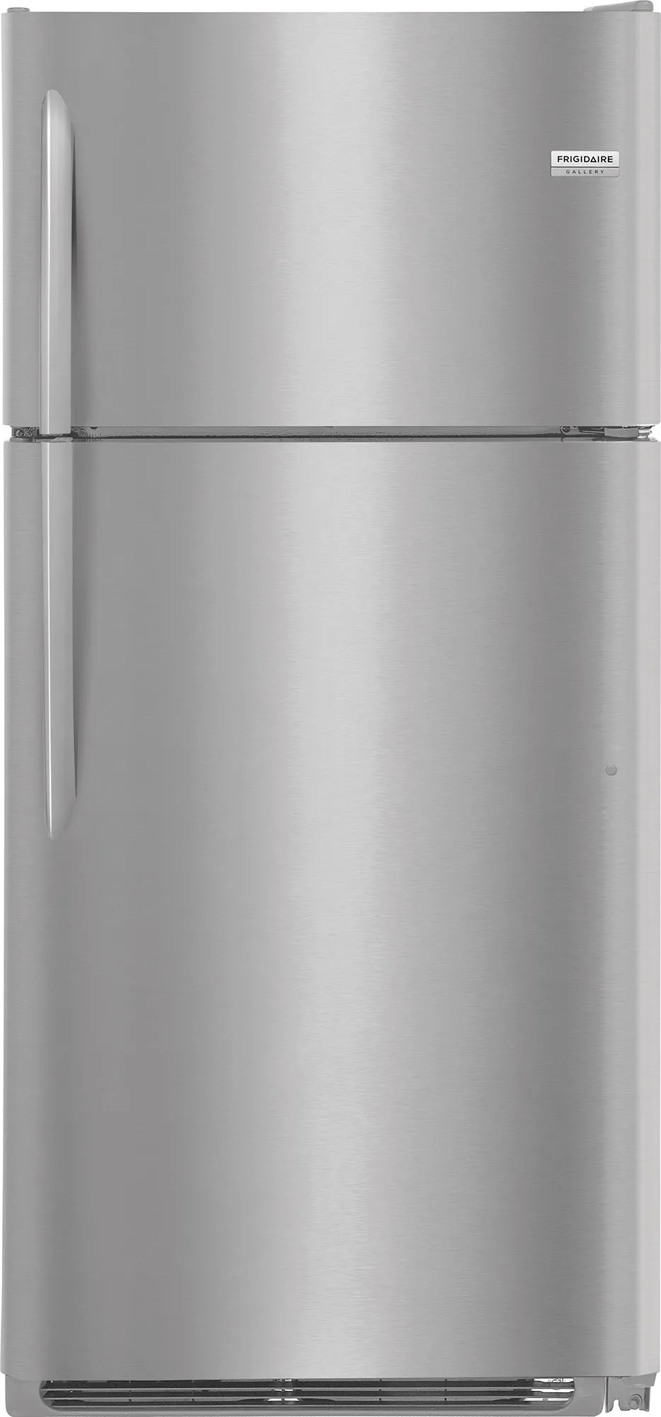 hight resolution of frigidaire gallery 18 cu ft top freezer refrigerator stainless steel fgtr1837tf