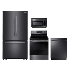 Stainless Steel Kitchen Packages Cotton Yarn Samsung 4 Piece Package Black