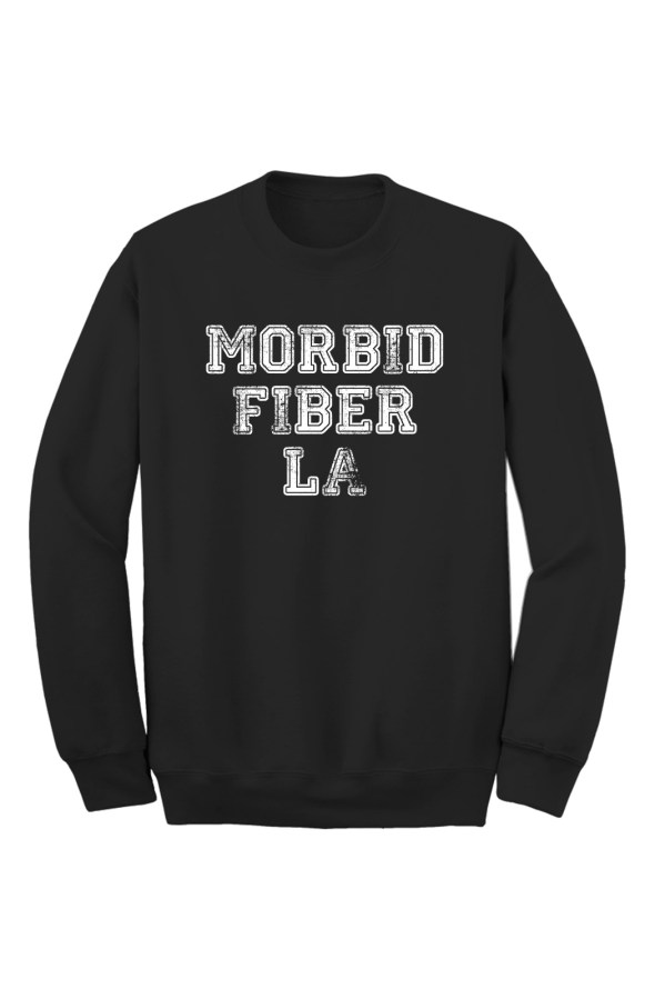 MFLA Morbid Fiber LA Streetwear black crew sweater
