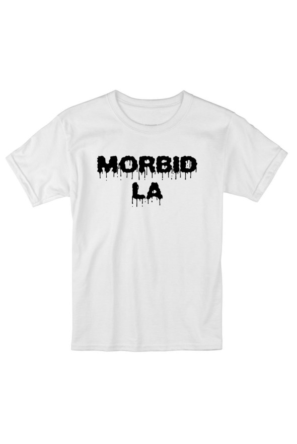 MORBID LA Clothing Streetwear Skater Style White T-Shirt Fashion