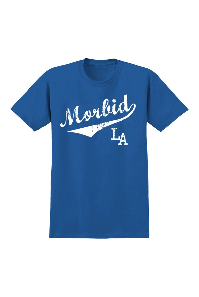 MORBID LA Streetwear Clothing Dodger Blue Sporty Fashion Style T-Shirt