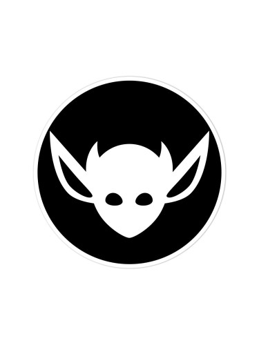 Morbid LA Clothing Streetwear Fashion Black Art Deco IMP Sticker Decal