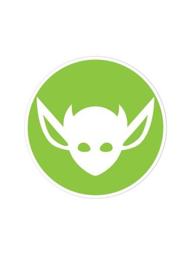 Morbid LA Clothing Streetwear Fashion Green Art Deco IMP Sticker Decal