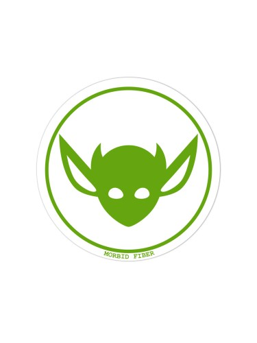 Morbid LA Streetwear Green IMP Head Sticker Decals