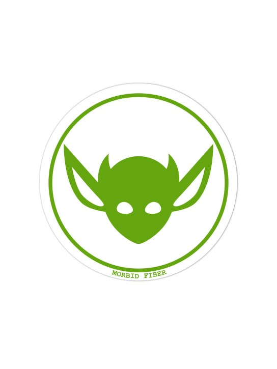 Morbid LA Streetwear Green IMP Head Sticker Decals