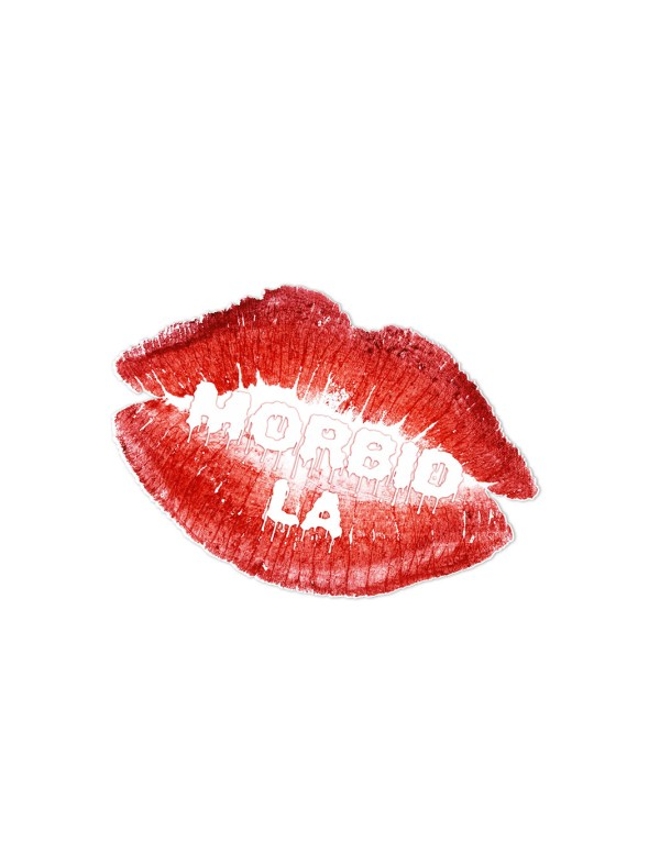 Morbid LA Streetwear Red Lips Sticker Decals