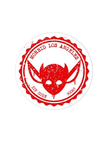 Morbid LA Streetwear Red Grunge IMP Sticker Decal