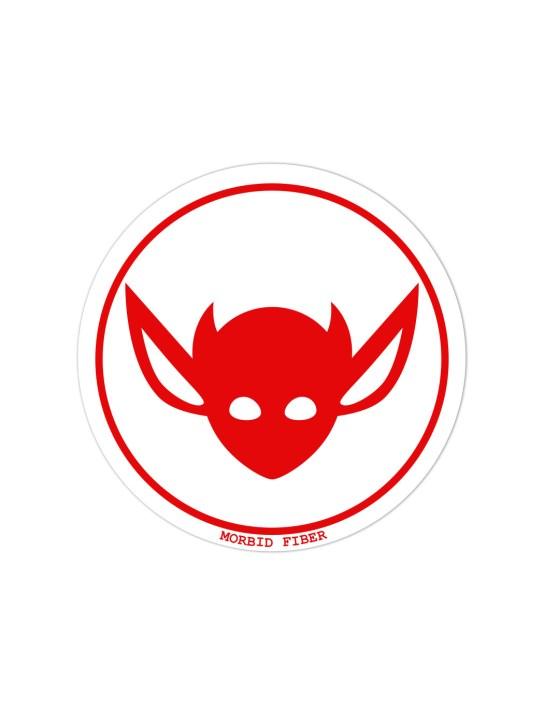 Morbid LA Streetwear Red IMP Head Sticker Decals