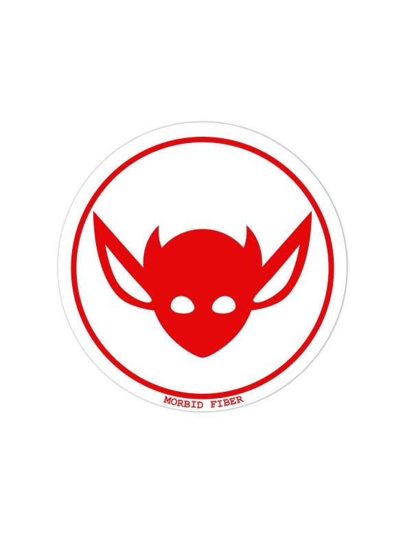 Morbid LA Streetwear Red IMP Head Sticker Decals
