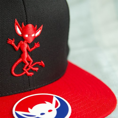MORBID FIBER Los Angeles Red Imp Snapback Hat