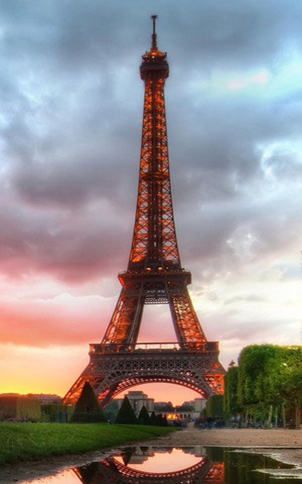 Quotes Evening Wallpaper Download Eiffel Tower Sunset View Free Pure 4k Ultra Hd