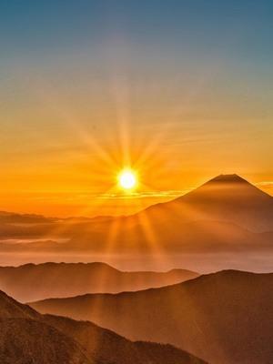 download sunrise in fuji