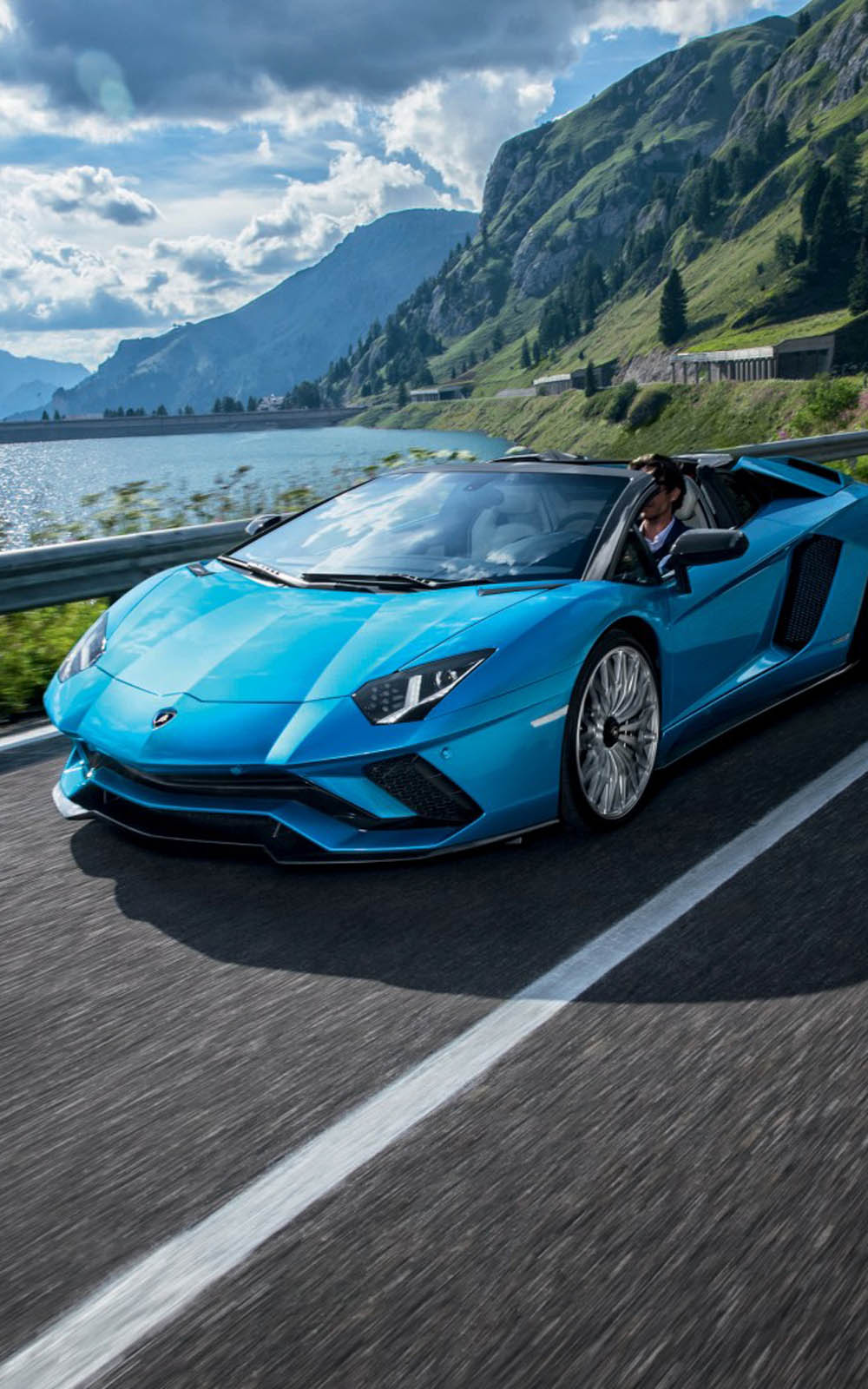 Car Hdr Wallpaper Download Blue Lamborghini Aventador S Roadster Free Pure