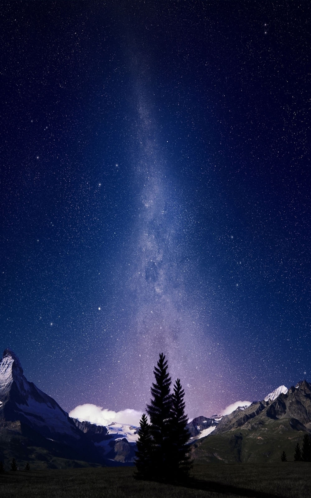Bmw Girl Wallpaper Download Milky Way Night Sky Mountains Free Pure 4k Ultra