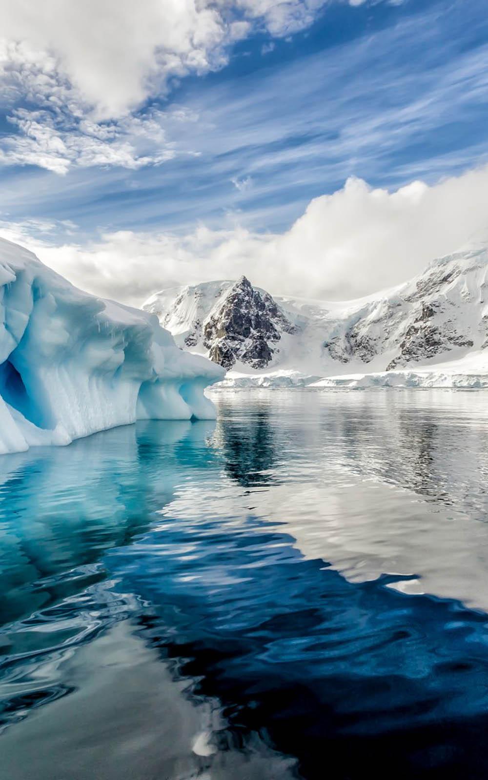 Anime Girl Bike Wallpaper Download Antarctica Iceberg Ocean Free Pure 4k Ultra Hd