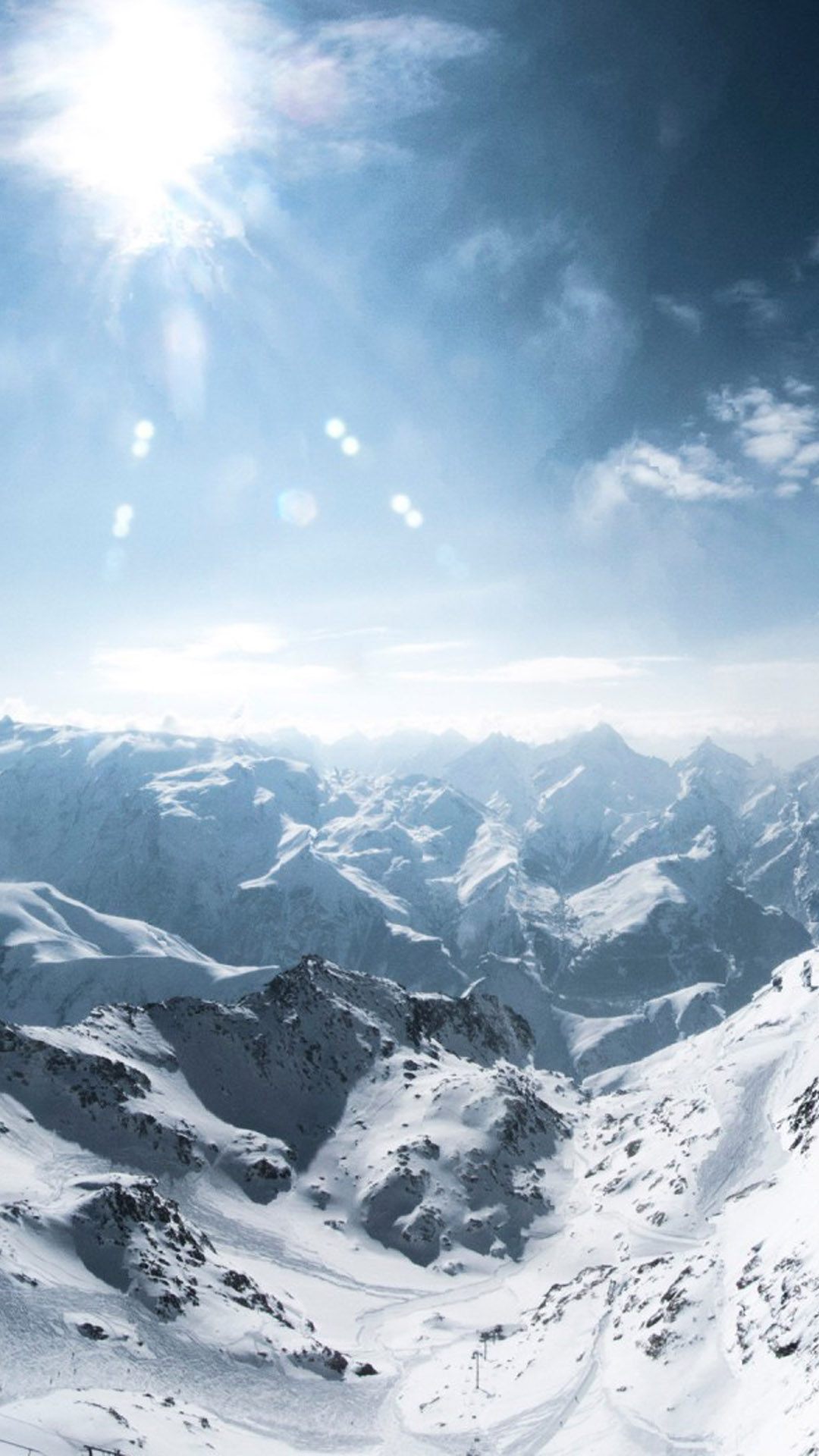 Free Fall Puppy Wallpaper Download Sun Light Snow Mountains In France Free Pure 4k