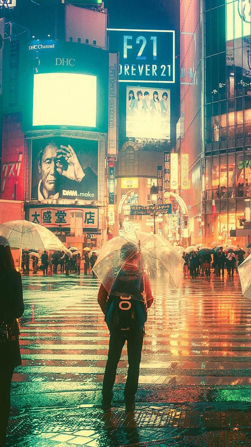 Girl Quotes Wallpapers For Mobile Phones Download Rainy Night In Tokyo City Free Pure 4k Ultra Hd