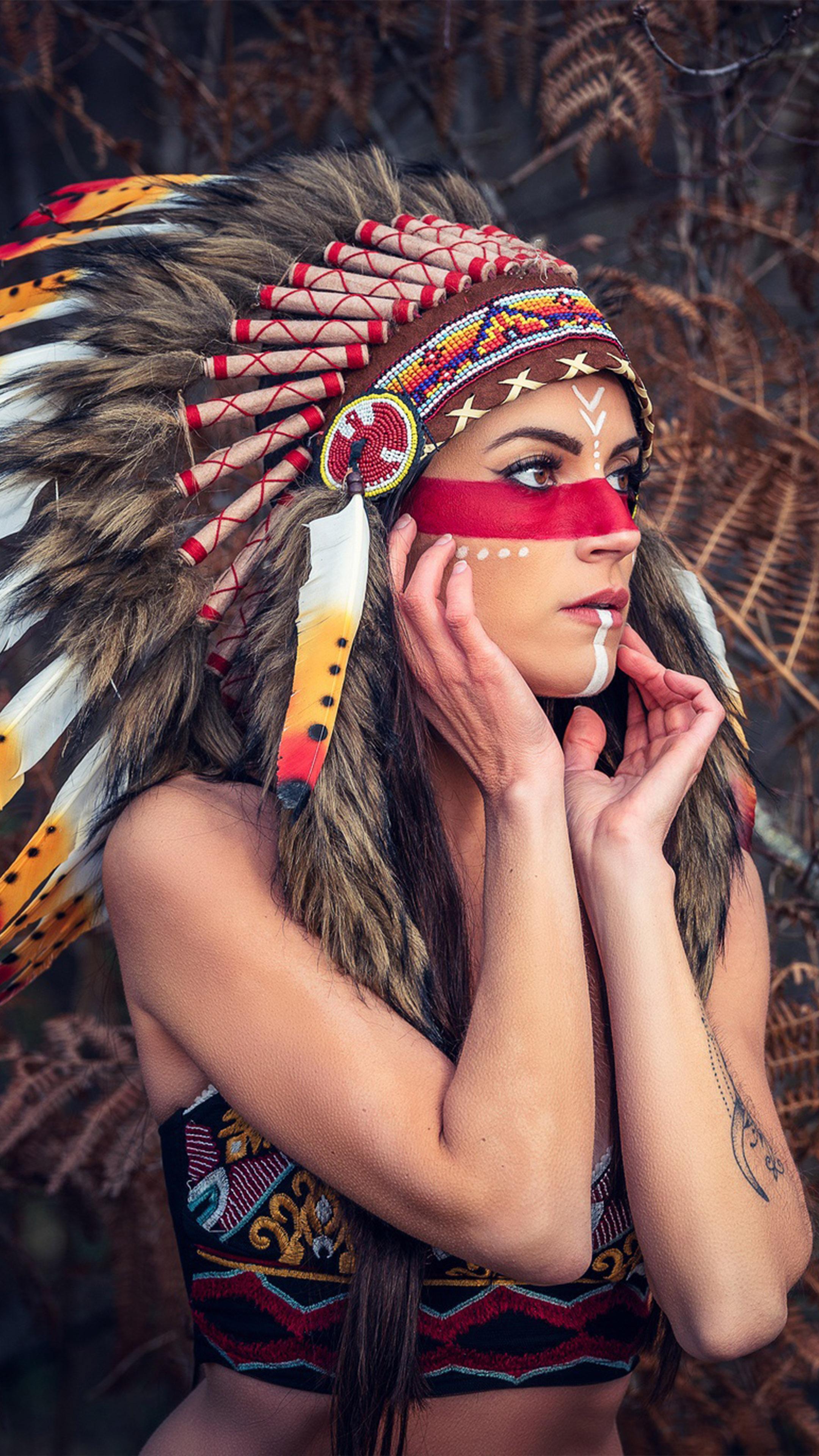 Girl Headdress Native American Free 4k Ultra Hd Mobile