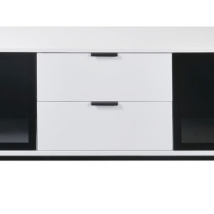 TV Console White with Drawers