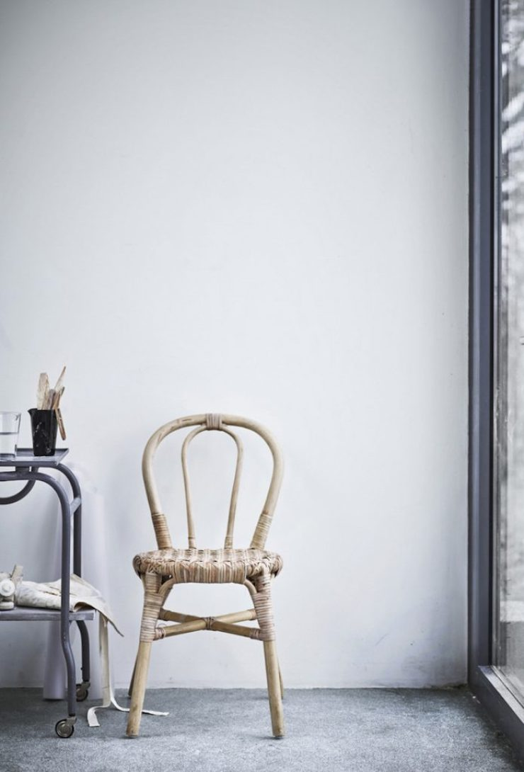 Ikea Viktigt stoel riet