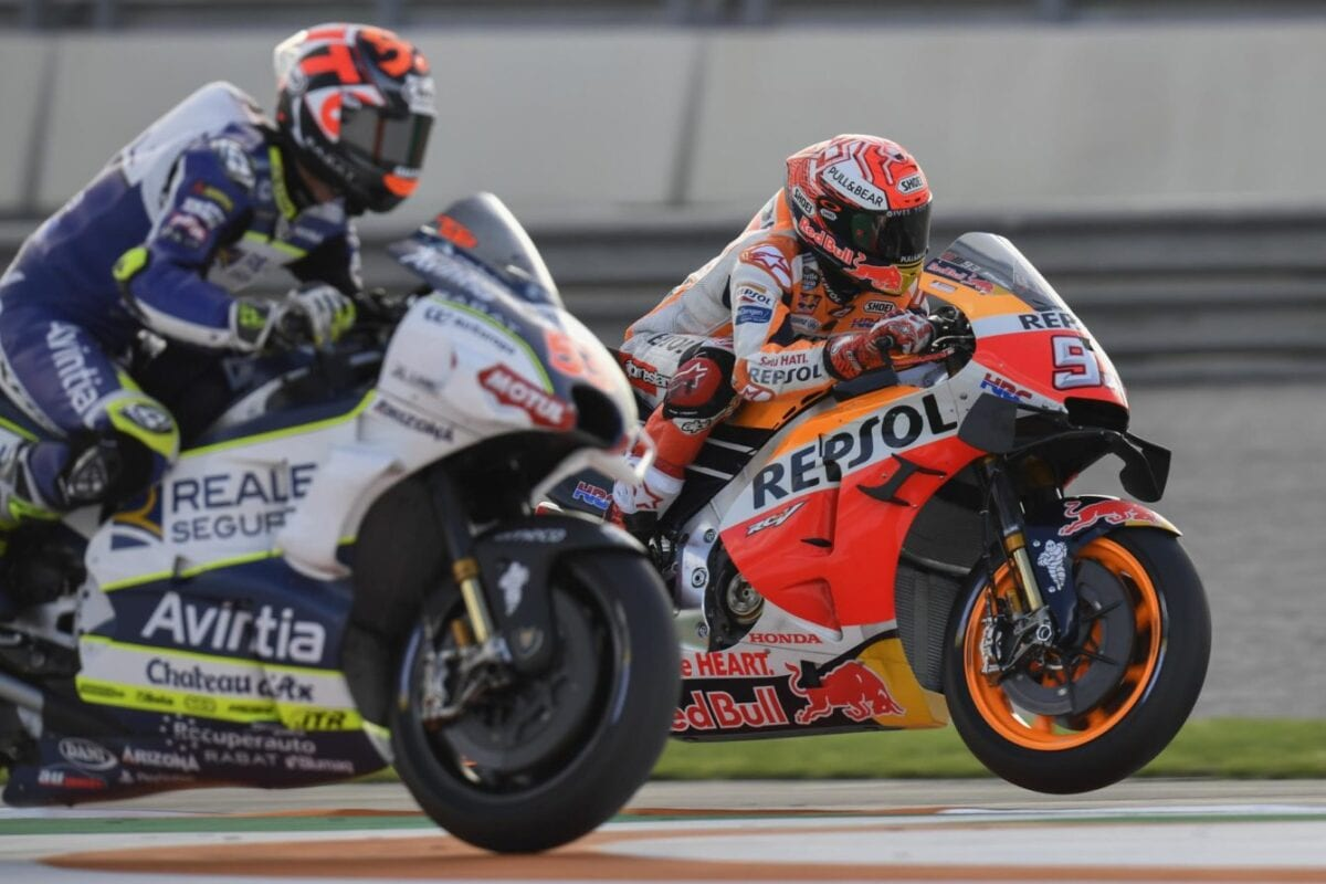 Marquez takes the win at the 2019 Valencia GP.