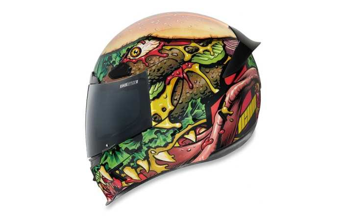 NEW GEAR: Fancy a burger? Icon's Airframe Pro 'Fastfood' helmet
