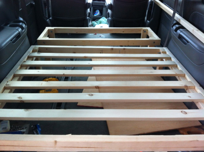 Minivan Camper Conversion Stage One Complete Morehawes