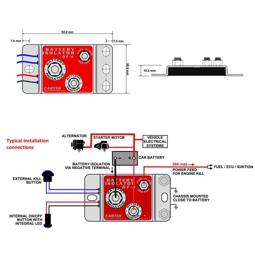 medium resolution of cartek battery isolator