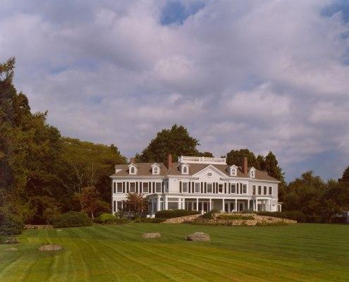 Exterior of a renovated South Dartmouth manor.