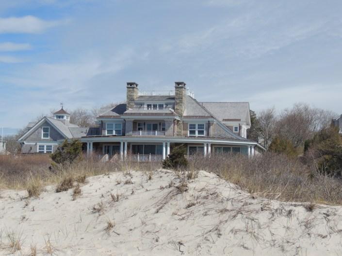 Exterior modern Cape Cod house