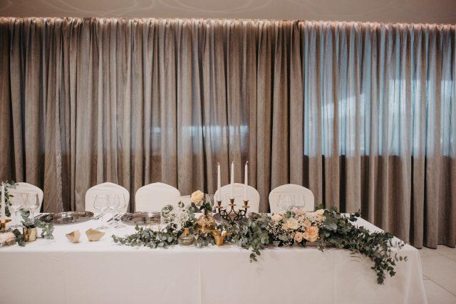 eukaliptus dekoracija stola za mladence
