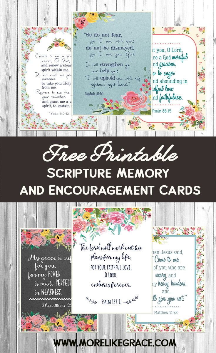 photograph relating to Free Printable Scripture Verses named Absolutely free Printable Scripture Playing cards Far more Together with Grace