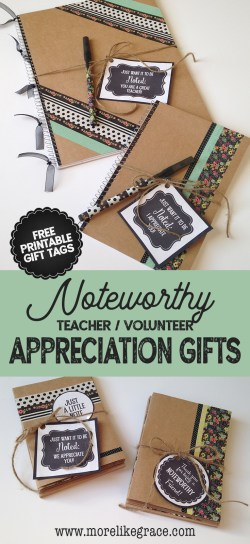 Four Noteworthy Appreciation Gifts | More Like Grace
