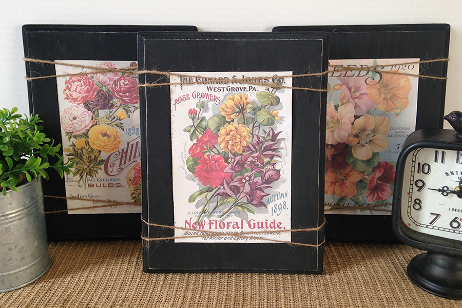 DIY Farmhouse Floral Signs