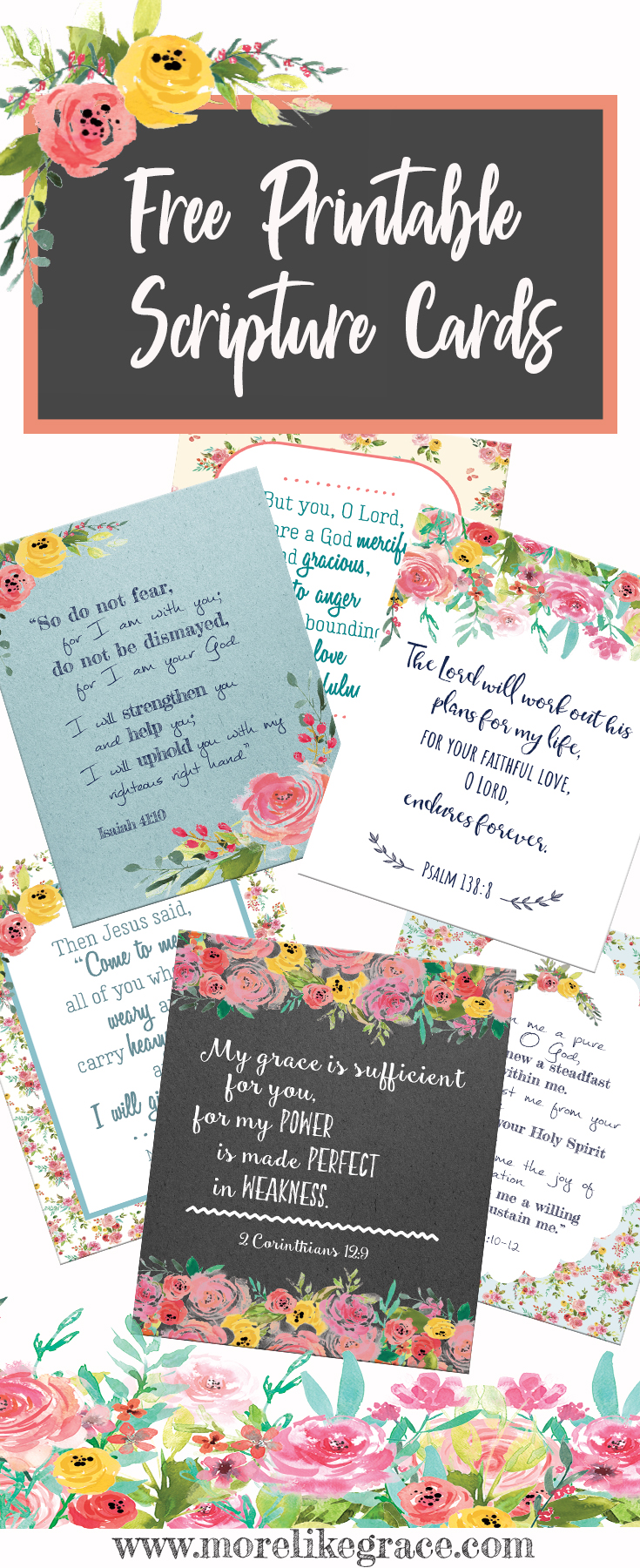 picture regarding Free Printable Scripture Cards titled Cost-free Printable Scripture Playing cards Even further Which include Grace