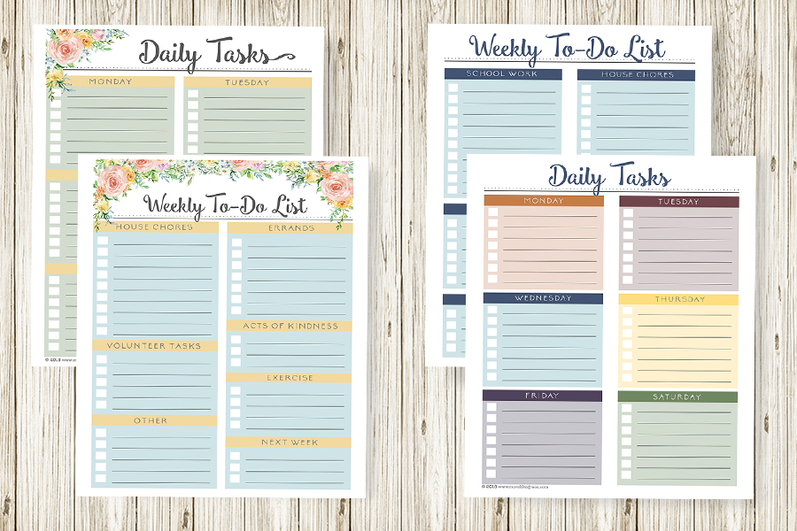 Free Printable Weekly Planners – For Mom and Kids