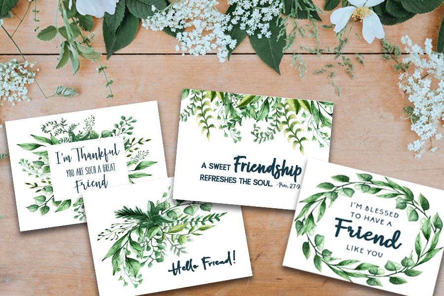picture about Free Printable Friendship Cards named Totally free Printable Friendship Playing cards Further Including Grace