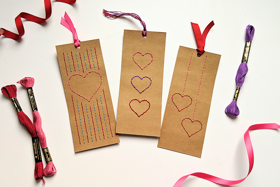 Valentines Bookmarks Template