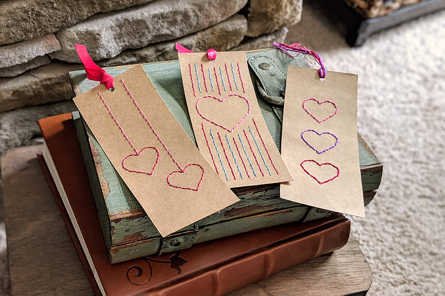 Easy Sew Valentines Bookmarks: Fun for Kids!